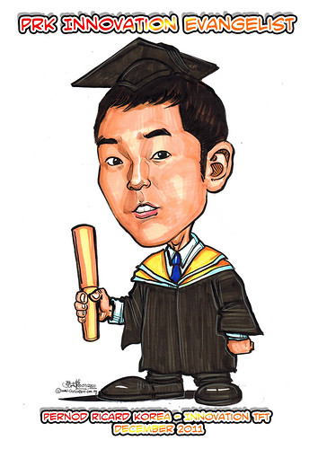 Caricature for Pernod Ricard Korea - Myeongjun