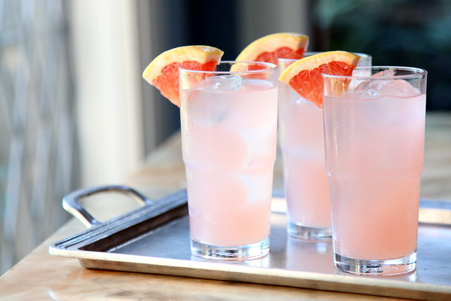 Rhubarb Rosemary Grapefruit Cocktail