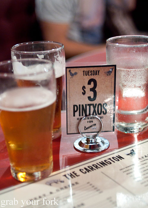 Pintxos at The Carrington Surry Hills