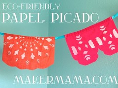 How to make eco-friendly faux papel picado