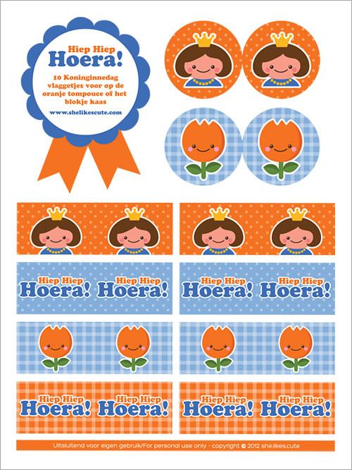 Free Queen's day printable