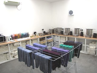 back in the dye room!