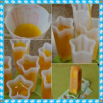 Haciendo las paletas de mango