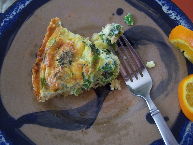 Broccoli cheddar quiche with a brown rice crust | Flickr - Photo ...