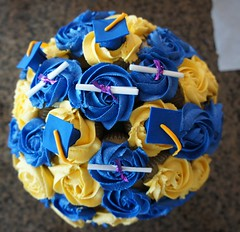 Graduation Cupcake  Bouquet