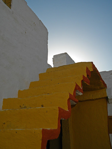 stairs in village outside Jaisalmer