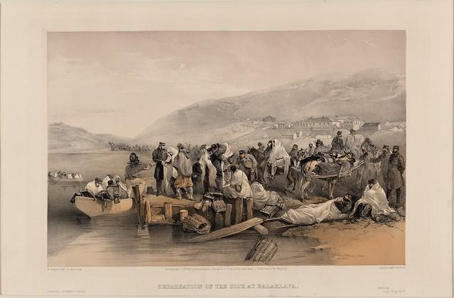 Embarkation of the sick at Balaklava