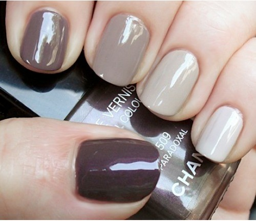 ombre neutral nails