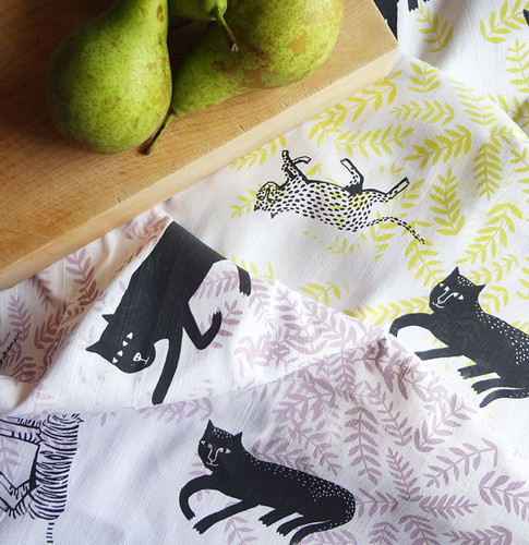 Big Cats Tea Towels