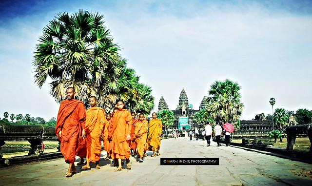 Monks Marching Out