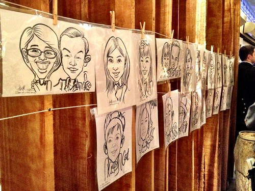 Caricature live sketching for Diageo Singapore Pte Ltd - f