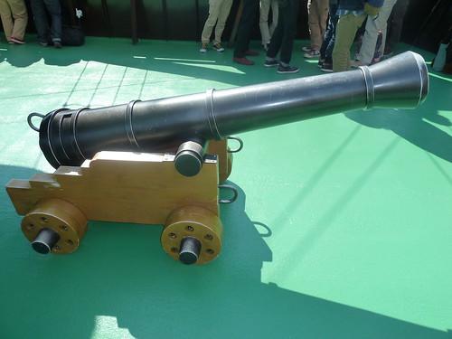 箱根海賊船 ビクトリー号にあった大砲