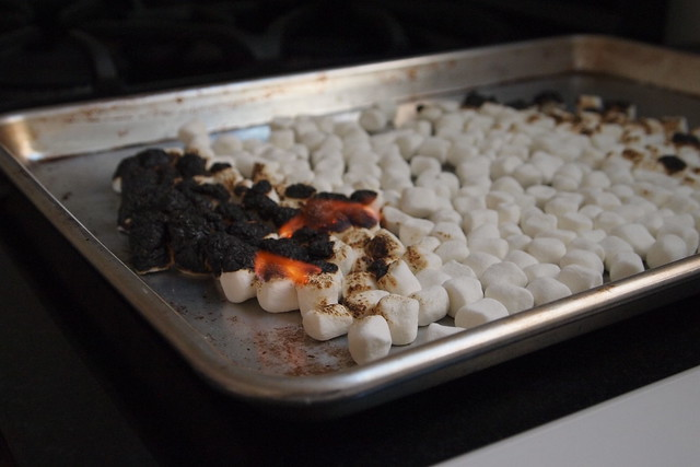 Charred marshmallows
