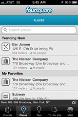 Work trending on Foursquare