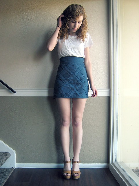 Lattice Suede Skirt