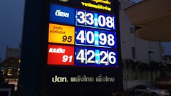Petrol Prices, Chiang Mai, Thailand