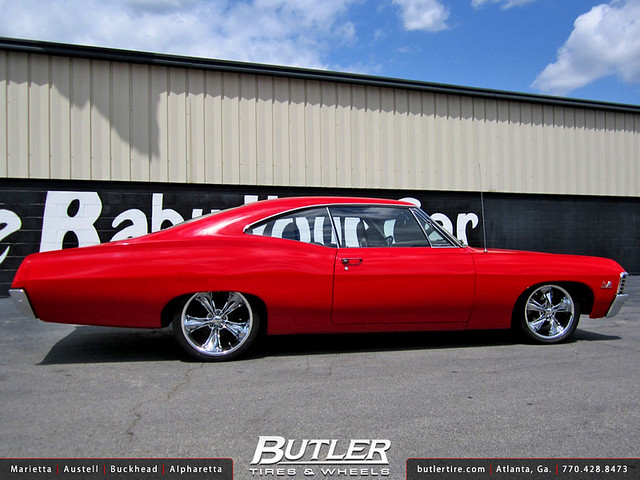 67 Chevy Impala with 17in Front and 18in Rear Foose Legend Wheels