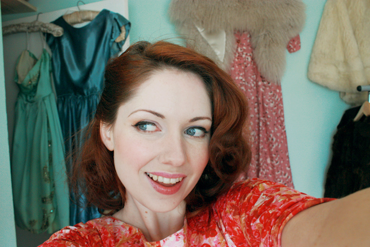 red vintage saturday smile