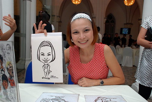 caricature live sketching for Intel Mobile Communications Year-End celebrations - 1