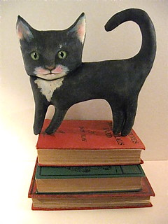 black cat art doll