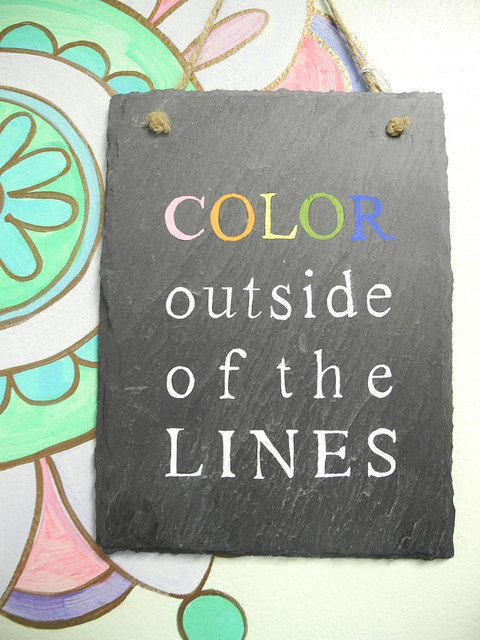 Sign: Color Outside of the Lines