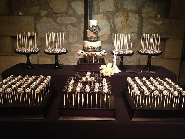 Cake Pop Display for Vineyard Wedding
