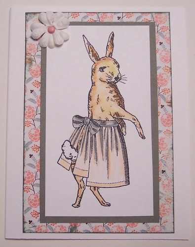 Bunny in Apron Card