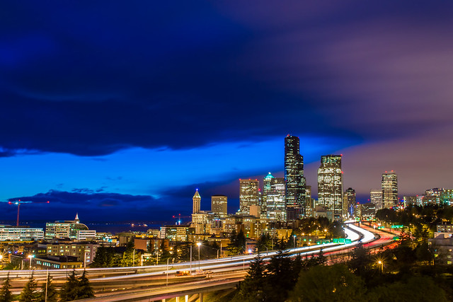 Storm Clouds Past Seattle