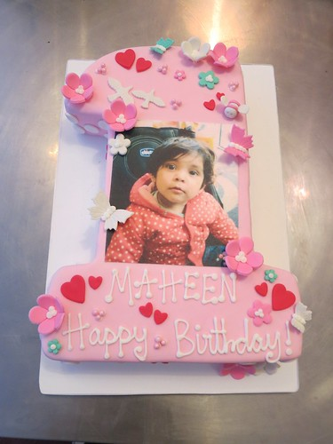 1st Birthday Photo Cake by CAKE Amsterdam - Cakes by ZOBOT