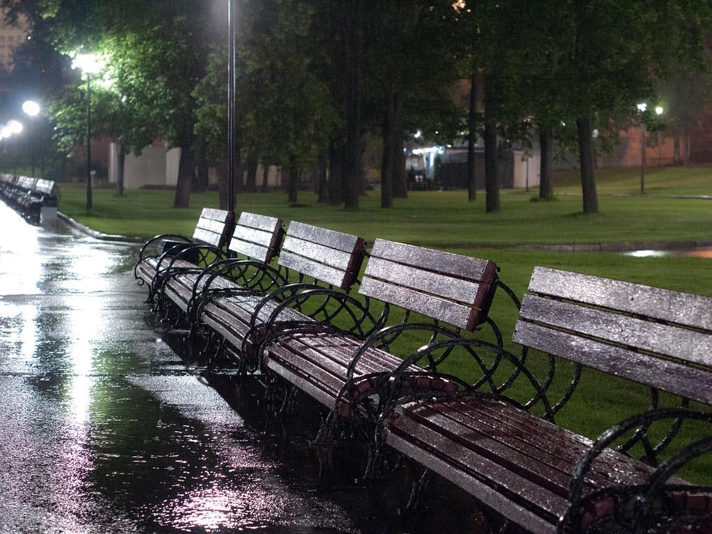 Benches at Alexander Garden