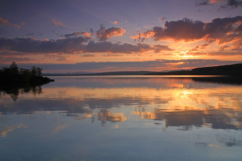 Sunset Reflections. by gordie broon. ( On Hols )