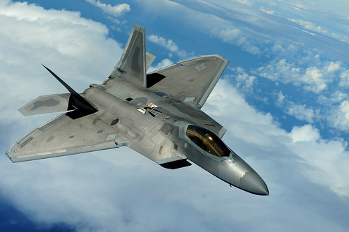 [フリー画像素材] 戦争, 軍用機, 戦闘機, F-22 ラプター, アメリカ軍 ID:201205160000