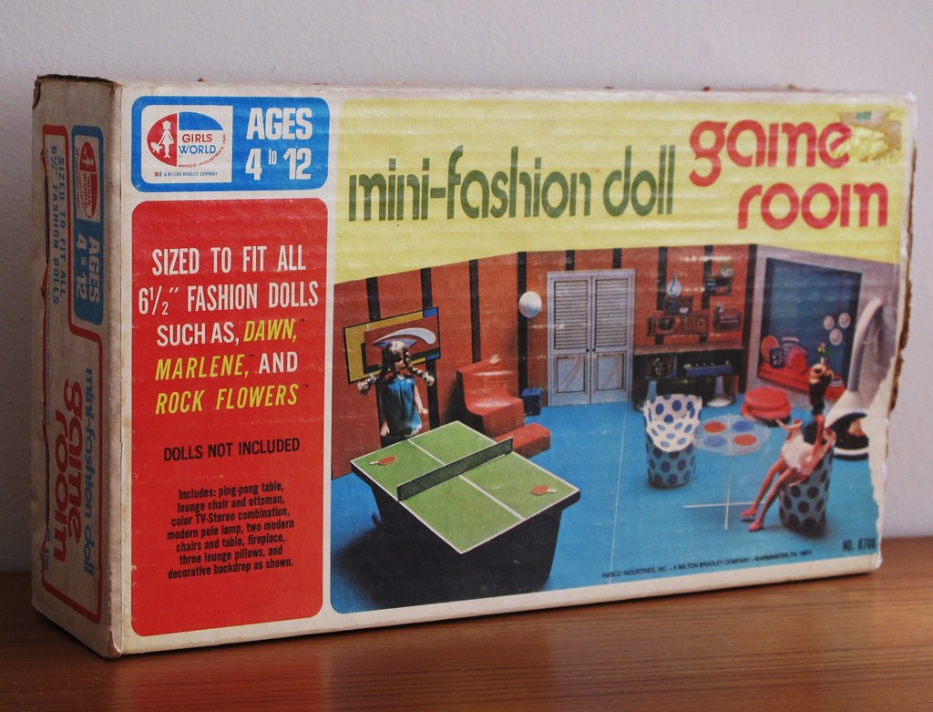 mini fashion doll game room 1971