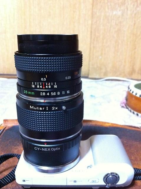 NEX-3 YASHICA ML 35mm F2.8 + Mutar 1