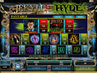 free Jekyll and Hyde slot payout