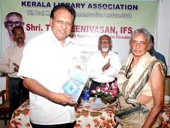 Shri T.P. Sreenivasan, IFS (Retd.) released the Book edited by Dr G.Devarajan