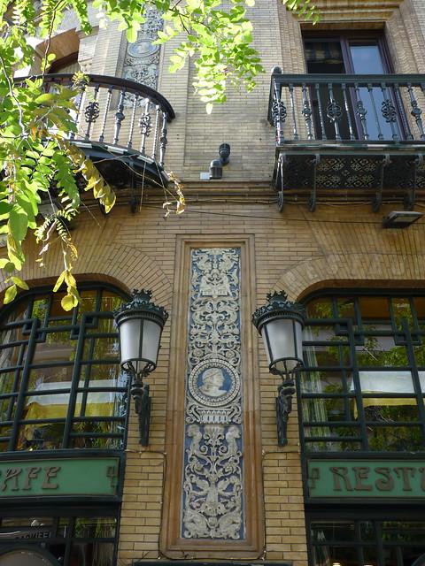 Sevilla cafe victoria eugenia art nouveau detail explore - Nouveau sevilla ...