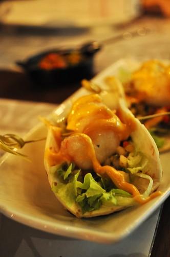 prawn tacos