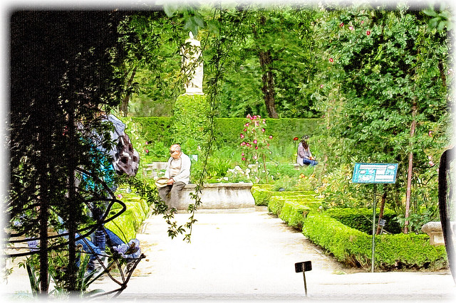 En el jard n de las maravillas un momento de reposo by for Bazzel el jardin de los secretos