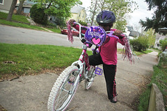 Lourdie Learnign to Ride a Bike April 15, 2012 2