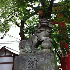 狛犬探訪 新宿花園神社 子取り玉取り