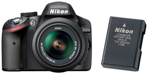 Nikon D3200 plus EN-EL14 -- Battery Life