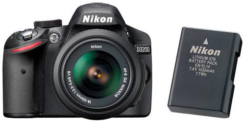 Nikon D3200 plus EN-EL14 -- Battery Life