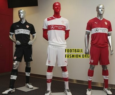 VfB Stuttgart PUMA 2012/13 Home, Away and Third Soccer Jerseys / Trikots / Football Kits