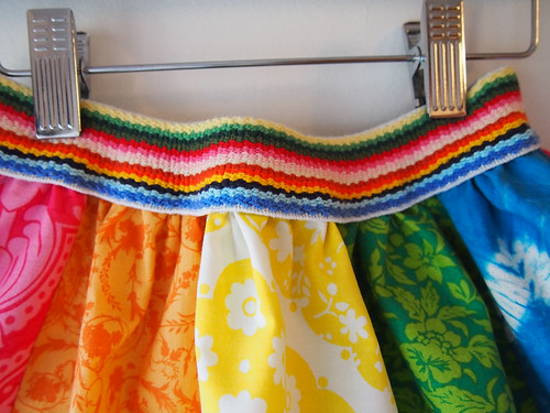rainbow skirt waistband detail