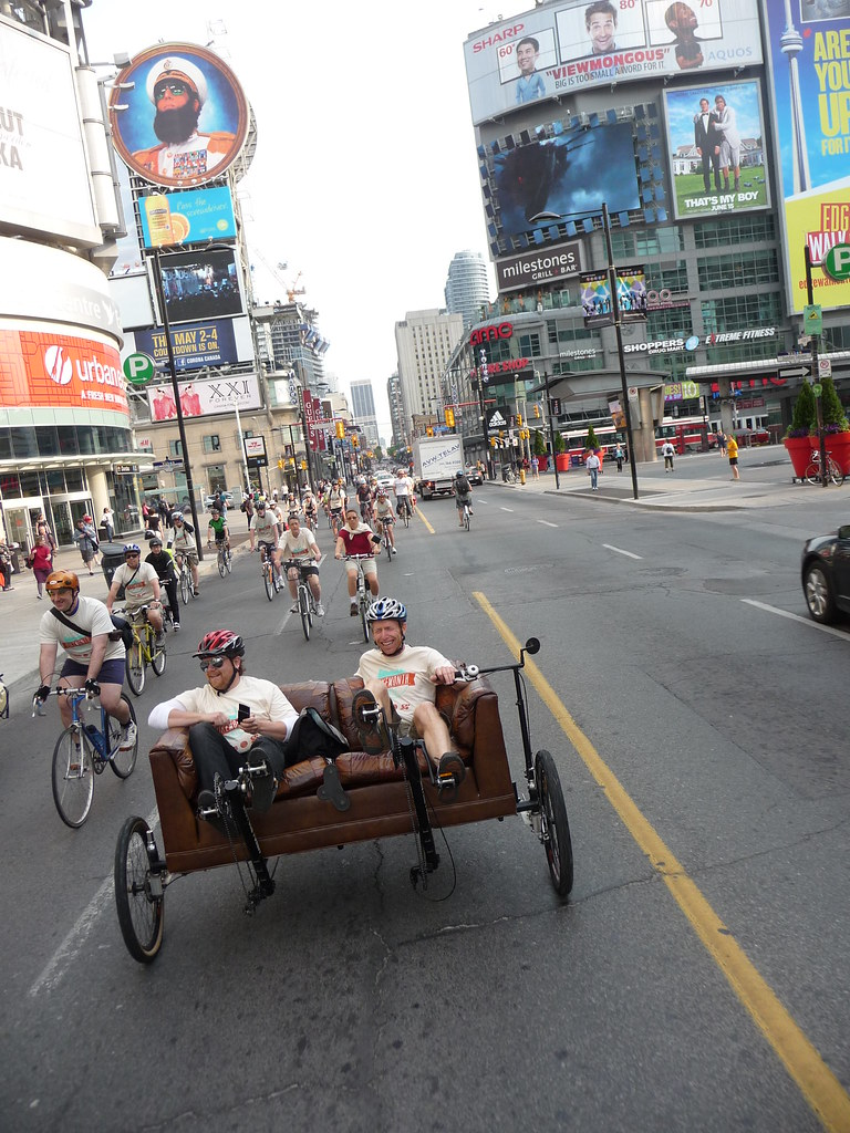 Couch Bike front end, Yonge and Dundas