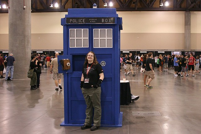 Phoenix Comicon - With the TARDIS