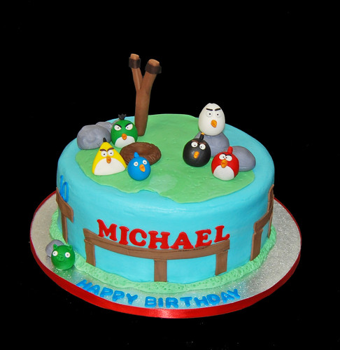 10th birthday cake for an Angry Birds themed party