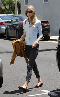 Taylor Swift Studded Loafers Celebrity Style Women's Fashion