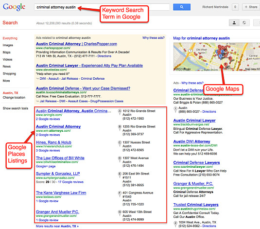 Attorney Marketing Google Places SERP - 05_30_12_opt